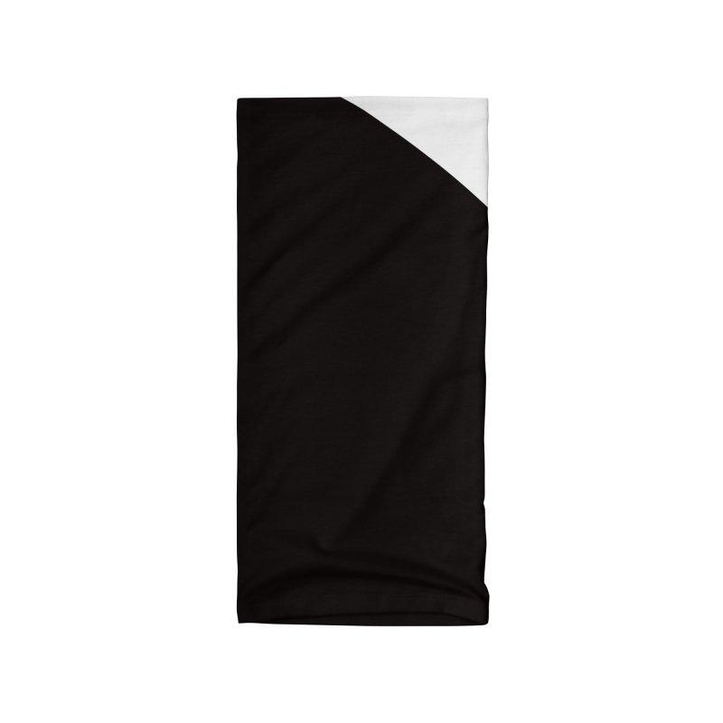 Elegant Black and White Accessories Neck Gaiter by WeirdPeople's ArtistShop