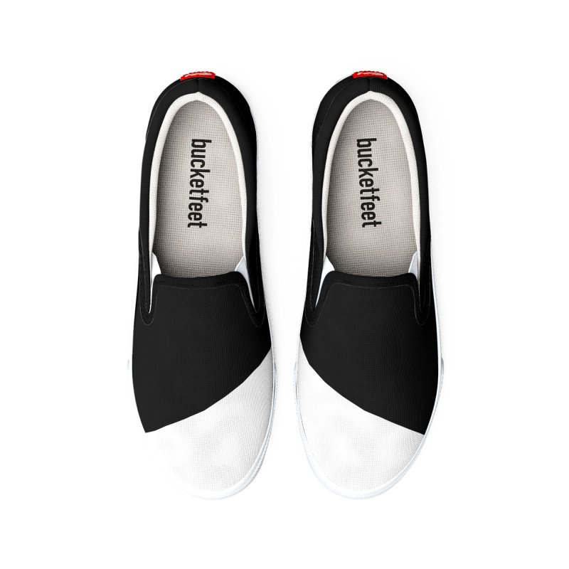 Elegant Black and White Women's Shoes by WeirdPeople's ArtistShop