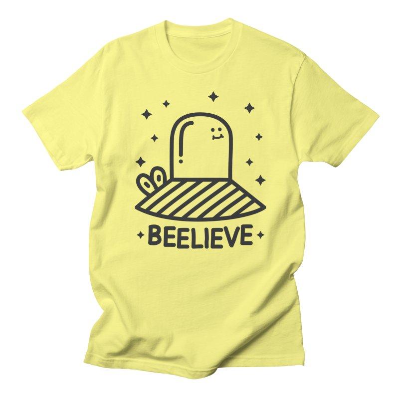 Beelieve in Men's Regular T-Shirt Lemon by WeirdPeople's ArtistShop