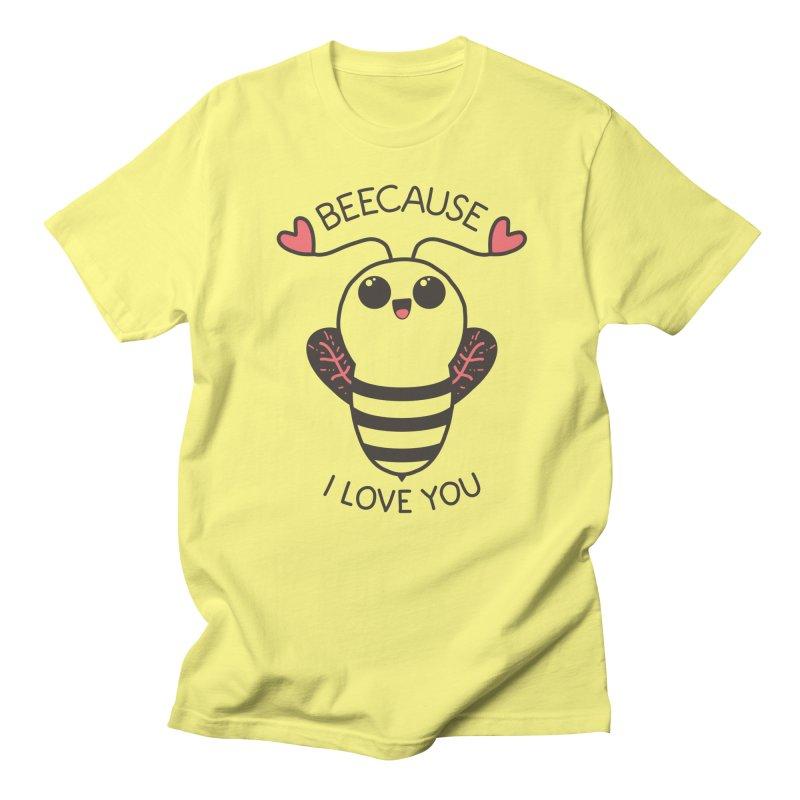 Beecause I love you in Men's Regular T-Shirt Lemon by WeirdPeople's ArtistShop