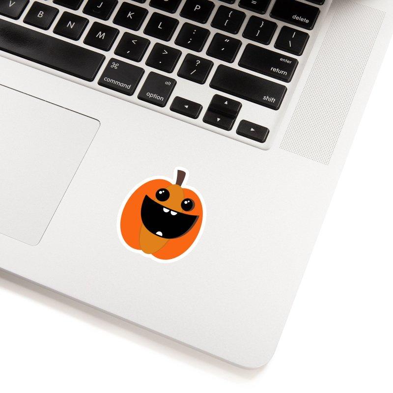 Cute Pumpkin in White Sticker by WeirdPeople's ArtistShop