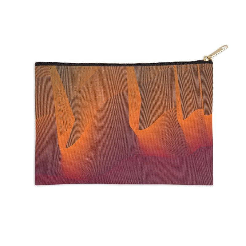 Sound wave warm fall in Zip Pouch by WeirdPeople's ArtistShop