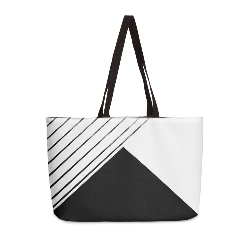Triangulated winter and stripes in Weekender Bag by WeirdPeople's ArtistShop
