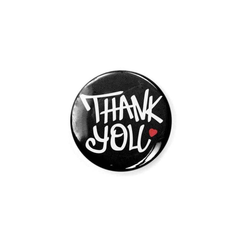 Thank you (White Design) in Button by WeirdPeople's ArtistShop