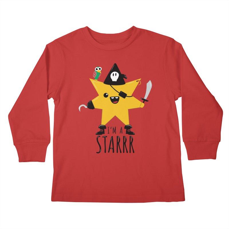 I'm a starrr in Kids Longsleeve T-Shirt Red by WeirdPeople's ArtistShop