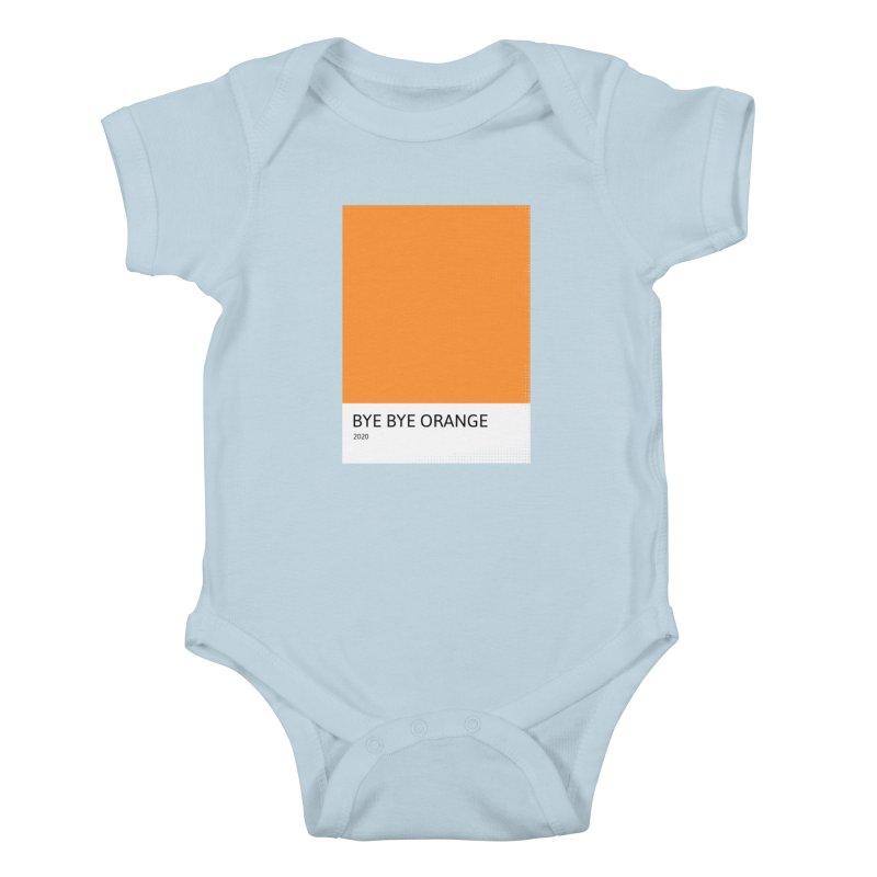 BYE BYE ORANGE Kids Baby Bodysuit by WeirdPeople's ArtistShop