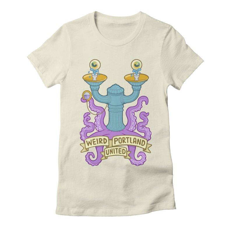 Weird Portland United Logo Shirt Women's Fitted T-Shirt by Weird Portland United Shop