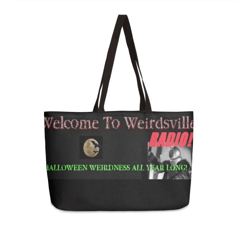 Welcome to Weirdsville Radio! Accessories Weekender Bag Bag by Welcome to Weirdsville