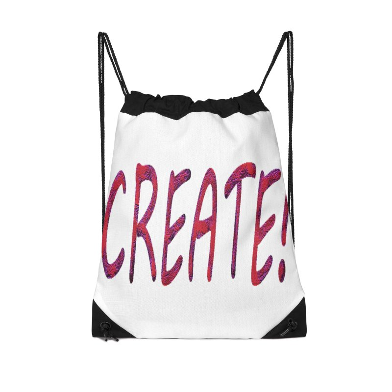 newcreate Accessories Drawstring Bag Bag by Welcome to Weirdsville