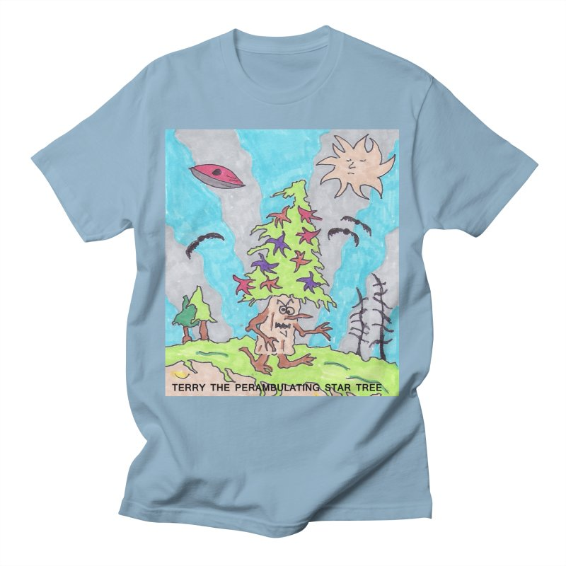 Terry the Perambulating Star Tree Men's T-Shirt by Welcome to Weirdsville