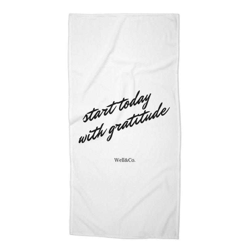 Gratitude Gear Accessories Beach Towel by Shop Well&Co.