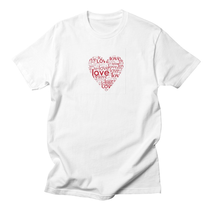 Love Men's Regular T-Shirt by wellchosenletters' Artist Shop