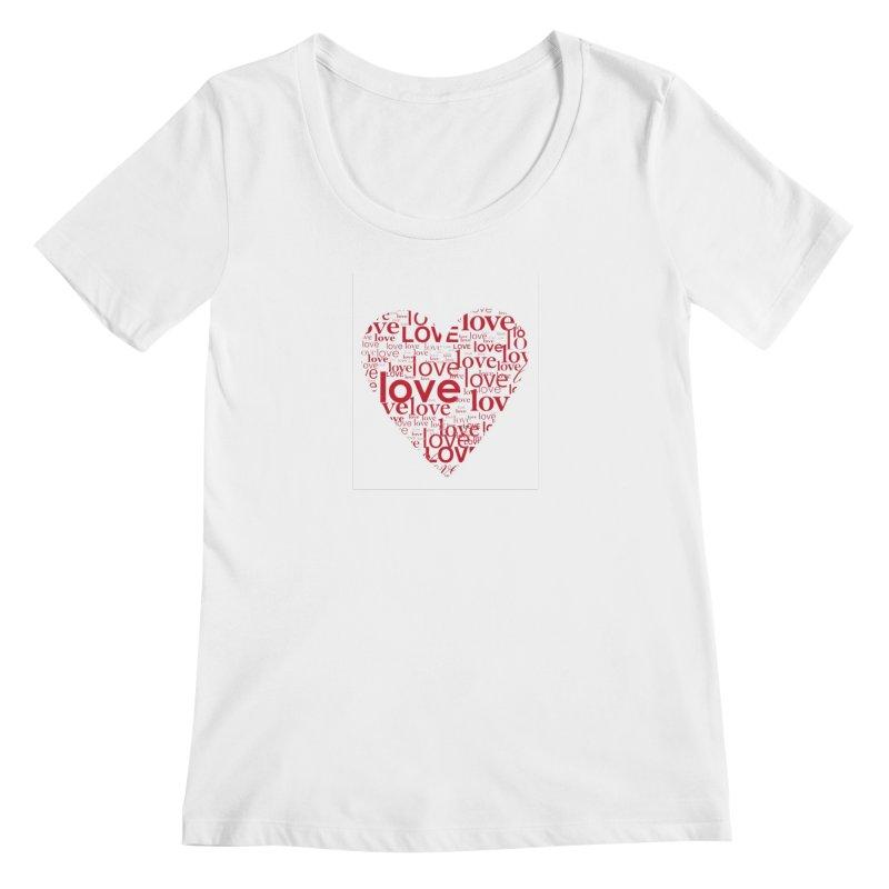 Love Women's Scoop Neck by wellchosenletters' Artist Shop