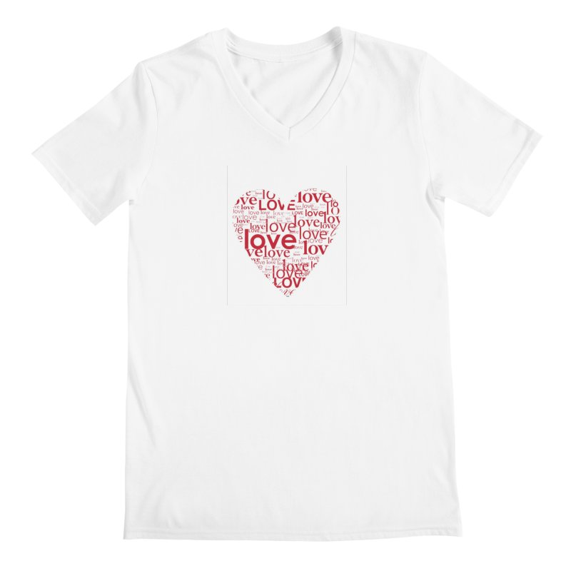 Love Men's Regular V-Neck by wellchosenletters' Artist Shop