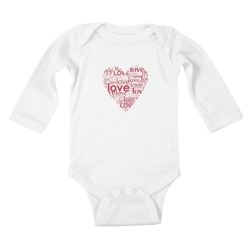 Love Kids Baby Longsleeve Bodysuit by wellchosenletters' Artist Shop