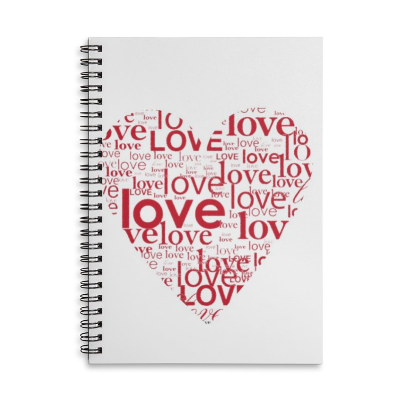 Love Accessories Lined Spiral Notebook by wellchosenletters' Artist Shop