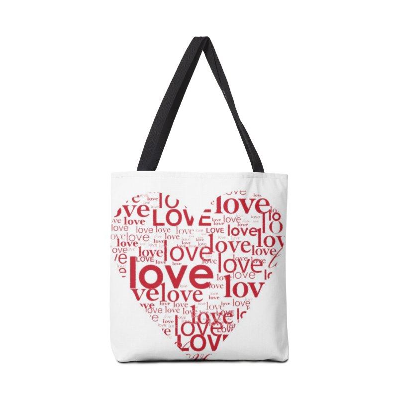 Love Accessories Bag by wellchosenletters' Artist Shop