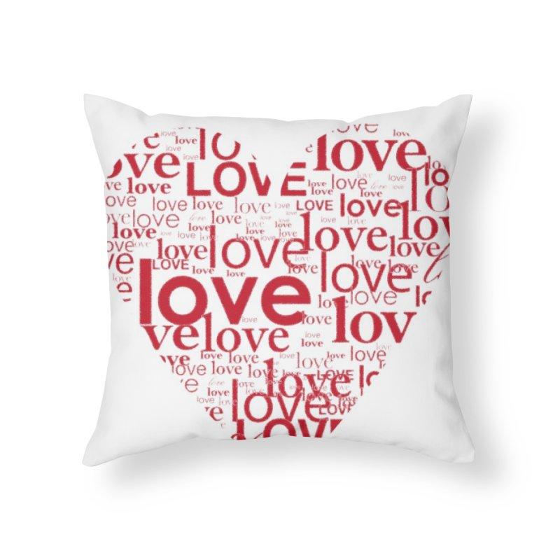 Love Home Throw Pillow by wellchosenletters' Artist Shop