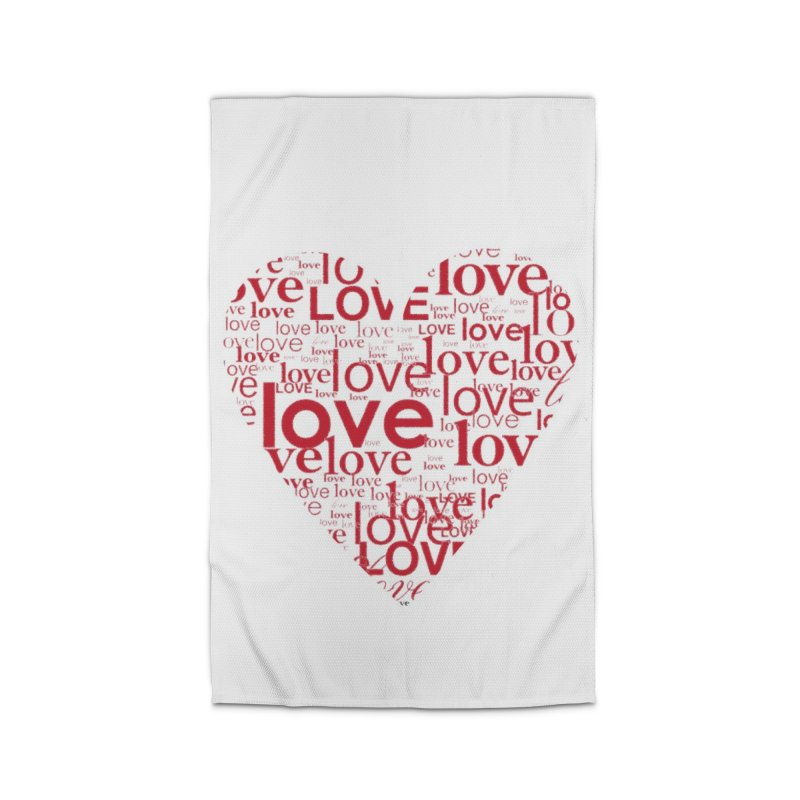 Love Home Rug by wellchosenletters' Artist Shop