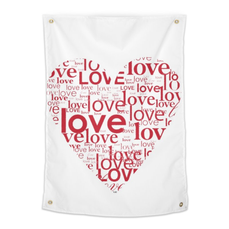 Love Home Tapestry by wellchosenletters' Artist Shop