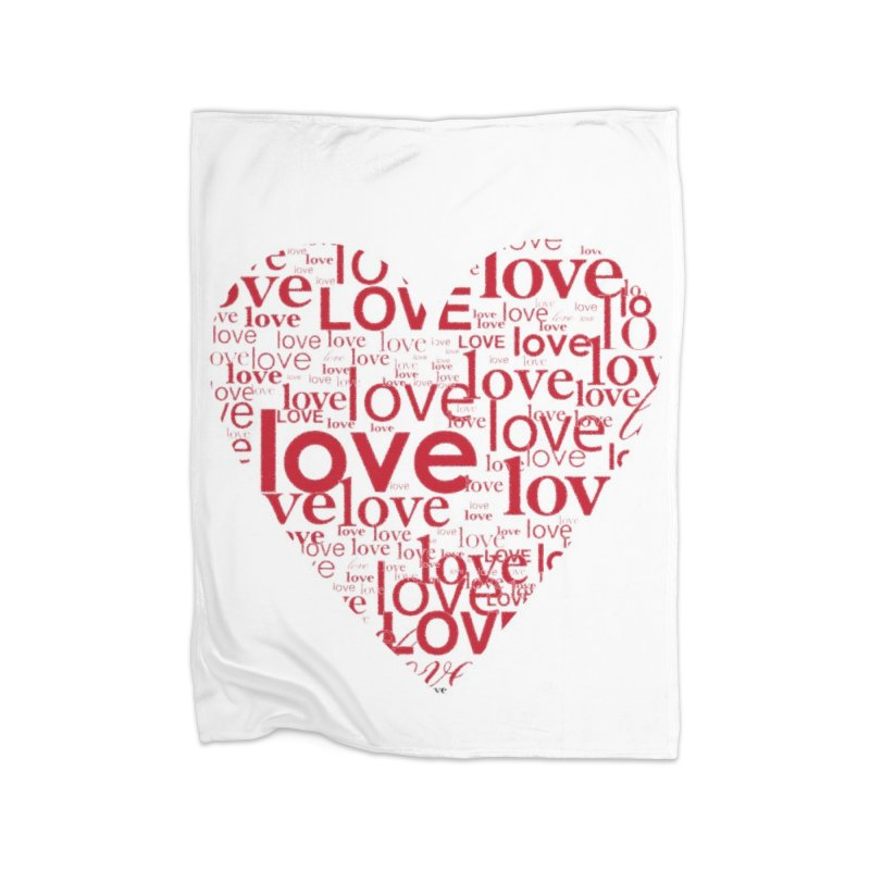 Love Home Blanket by wellchosenletters' Artist Shop