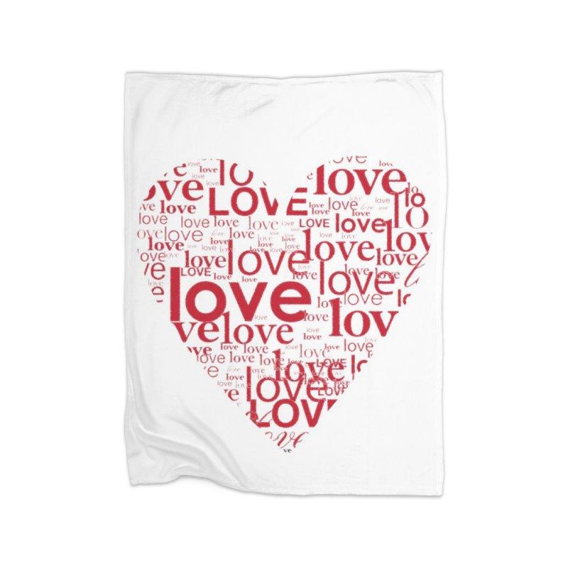 Love Home Fleece Blanket Blanket by wellchosenletters' Artist Shop