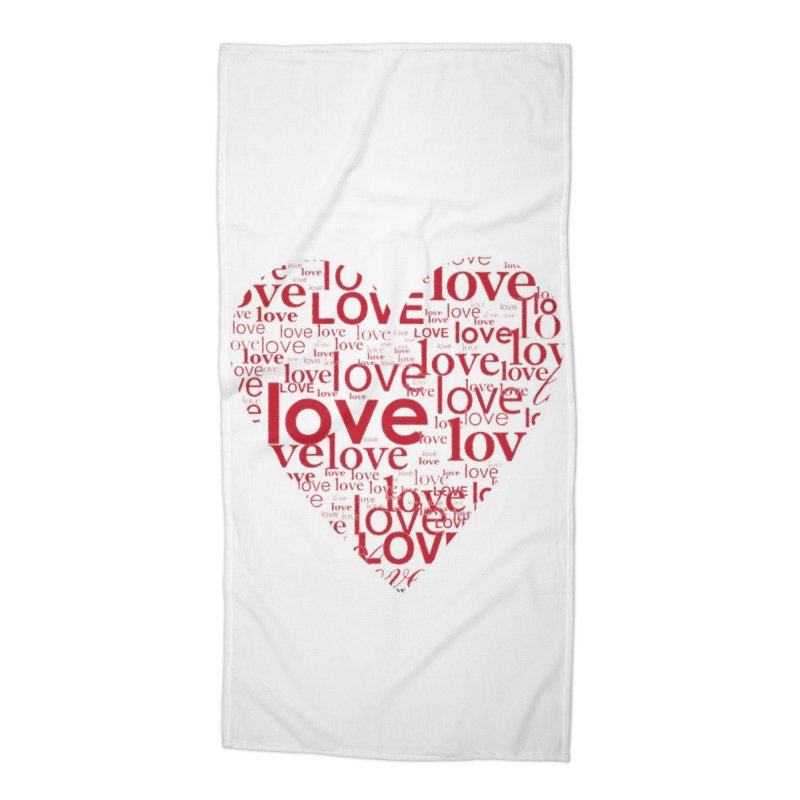 Love Accessories Beach Towel by wellchosenletters' Artist Shop