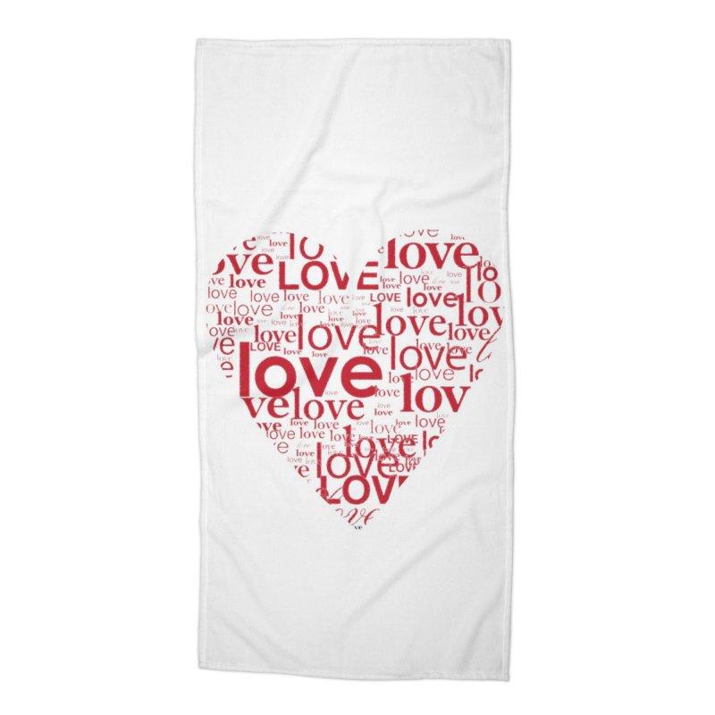 Love Accessories Beach Towel by wellchosenletters' Artist Shop