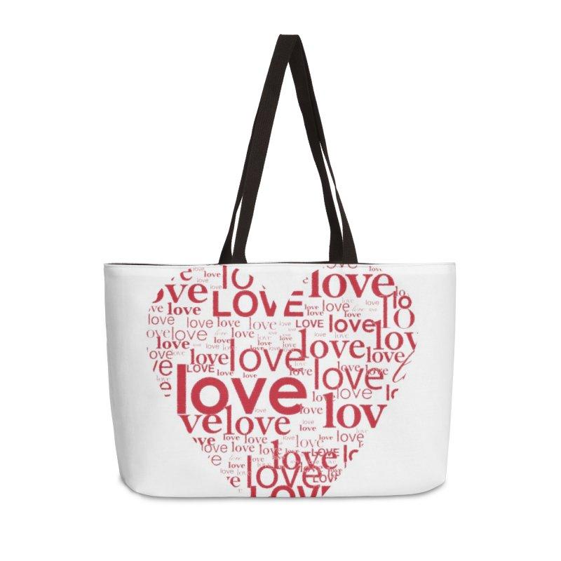 Love Accessories Weekender Bag Bag by wellchosenletters' Artist Shop