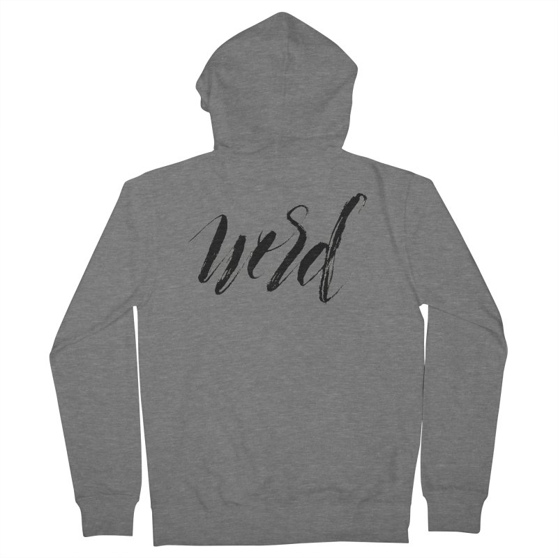 Word Men's Zip-Up Hoody by wellchosenletters' Artist Shop