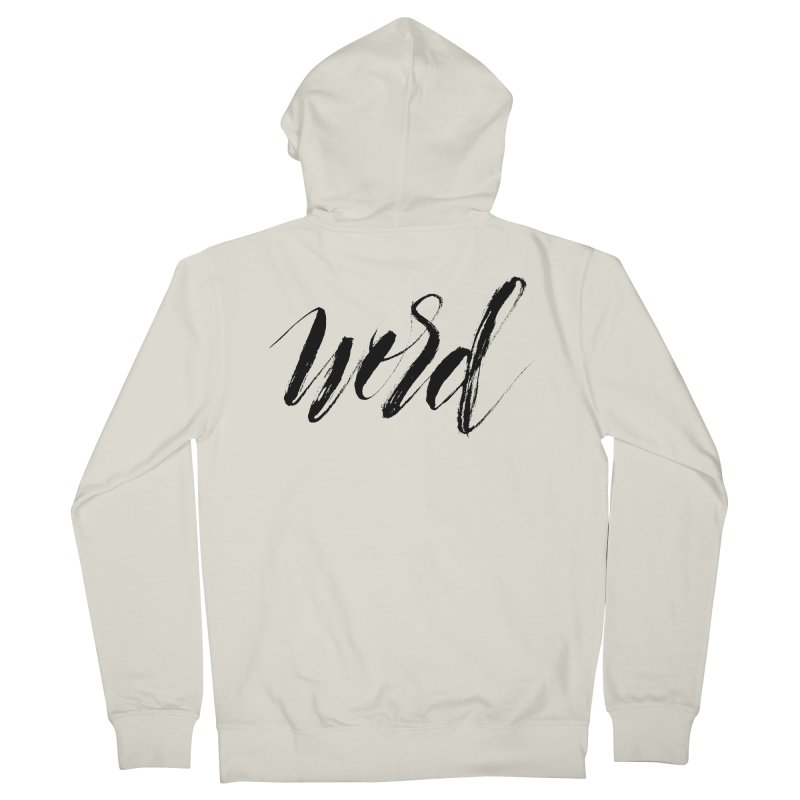 Word Men's French Terry Zip-Up Hoody by wellchosenletters' Artist Shop