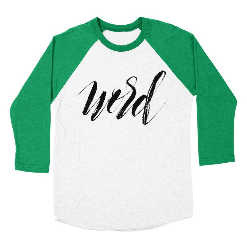 Word Men's Baseball Triblend Longsleeve T-Shirt by wellchosenletters' Artist Shop