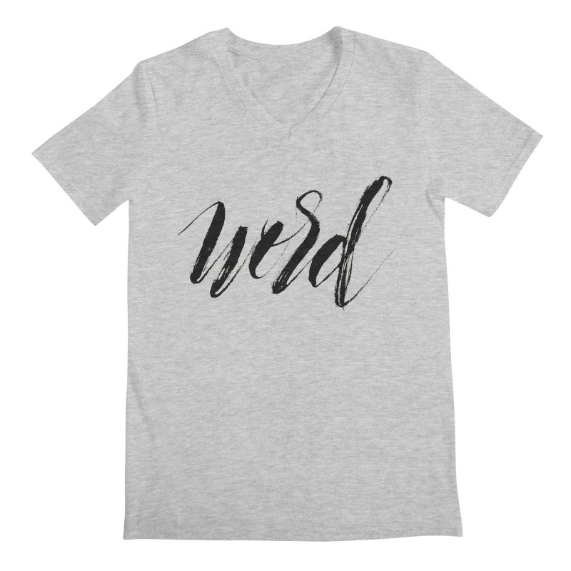 Word Men's Regular V-Neck by wellchosenletters' Artist Shop