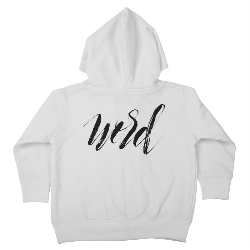 Word Kids Toddler Zip-Up Hoody by wellchosenletters' Artist Shop