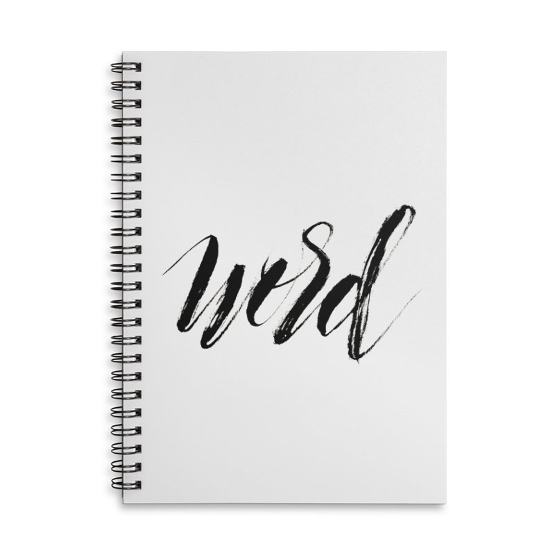 Word Accessories Lined Spiral Notebook by wellchosenletters' Artist Shop