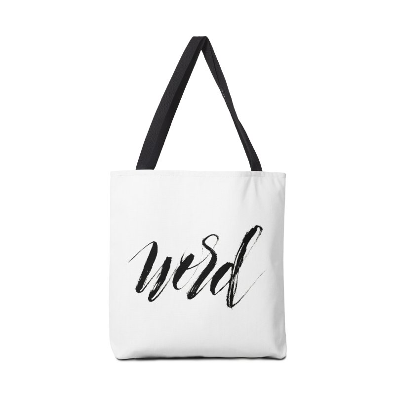 Word Accessories Tote Bag Bag by wellchosenletters' Artist Shop