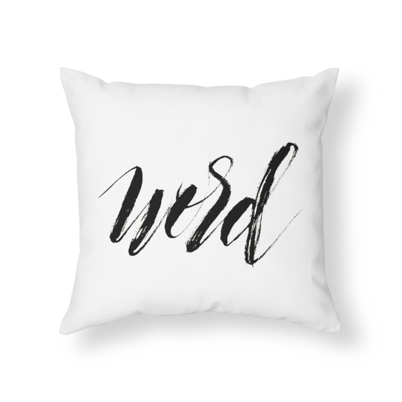 Word Home Throw Pillow by wellchosenletters' Artist Shop
