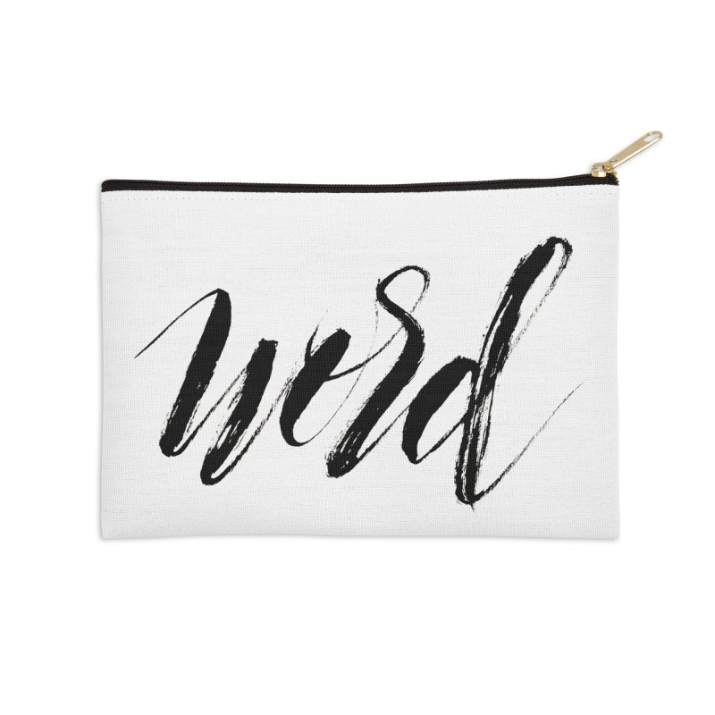 Word Accessories Zip Pouch by wellchosenletters' Artist Shop