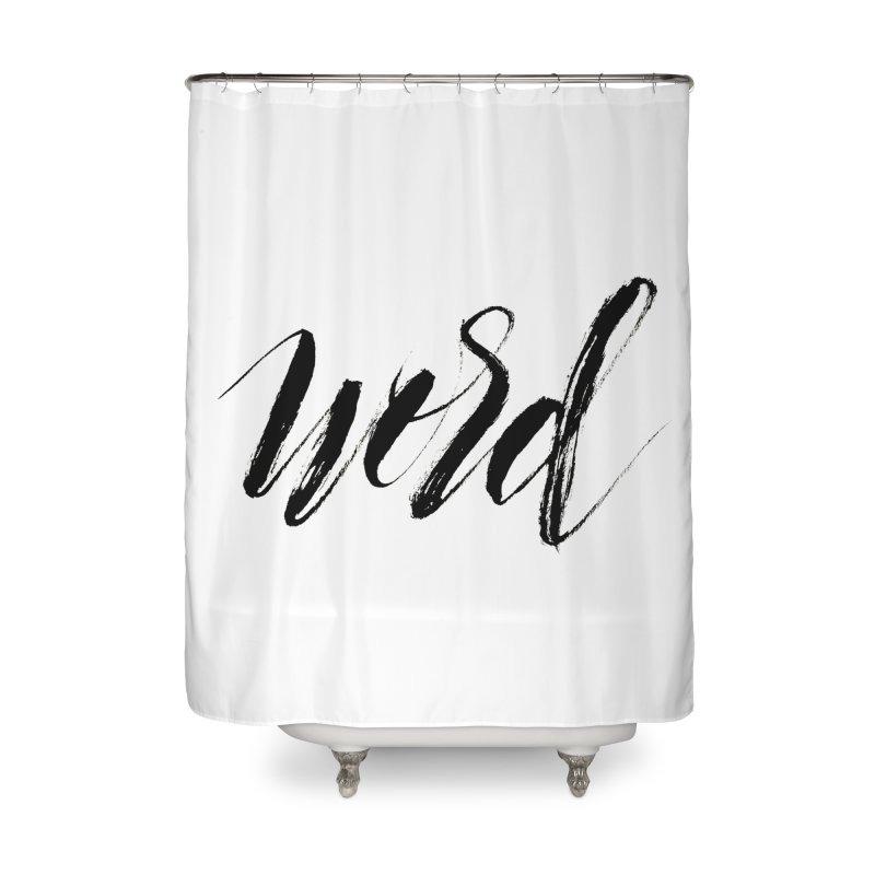 Word Home Shower Curtain by wellchosenletters' Artist Shop