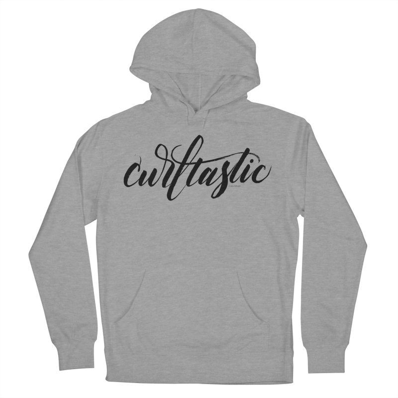 Curltastic Women's French Terry Pullover Hoody by wellchosenletters' Artist Shop