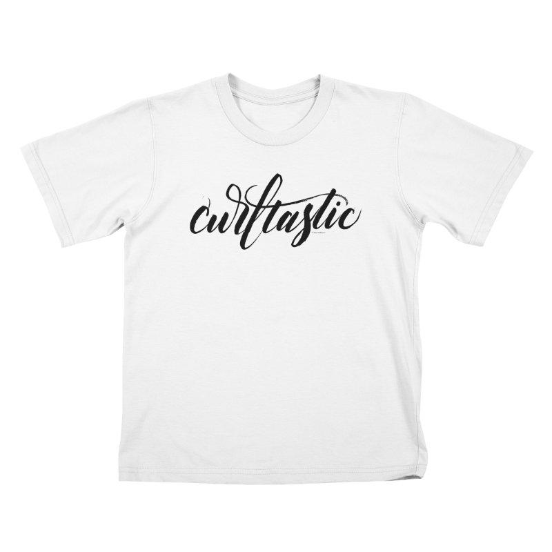 Curltastic Kids T-Shirt by wellchosenletters' Artist Shop