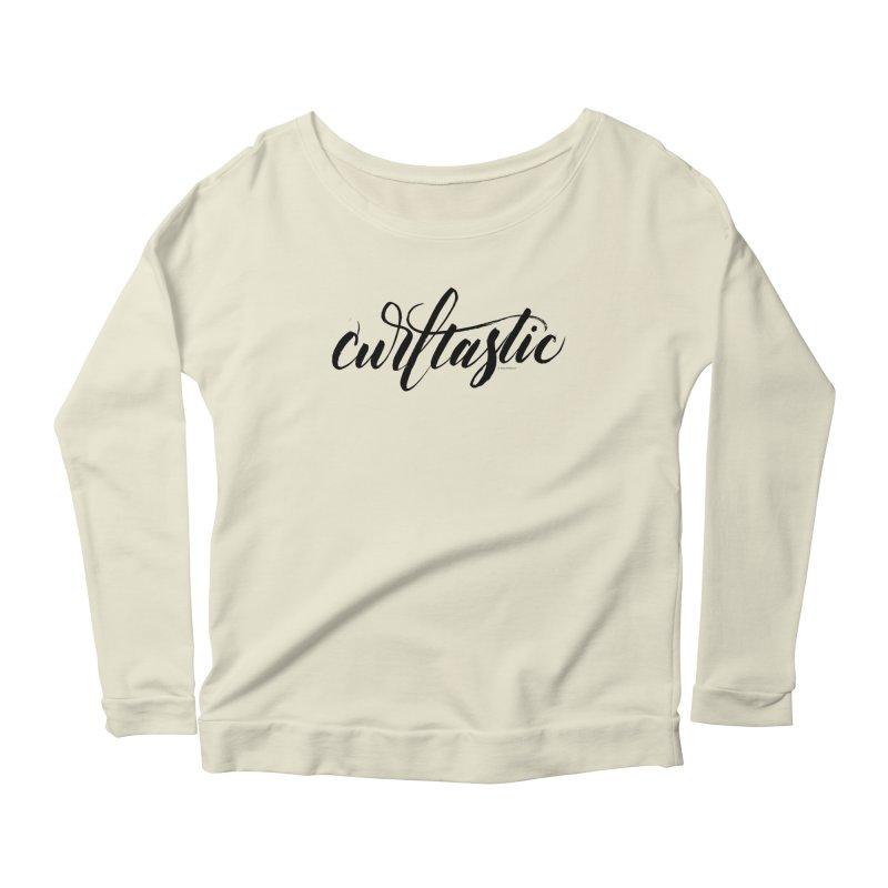 Curltastic Women's Scoop Neck Longsleeve T-Shirt by wellchosenletters' Artist Shop