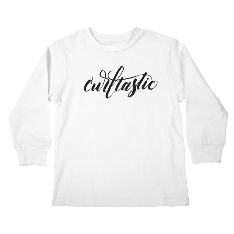 Curltastic Kids Longsleeve T-Shirt by wellchosenletters' Artist Shop