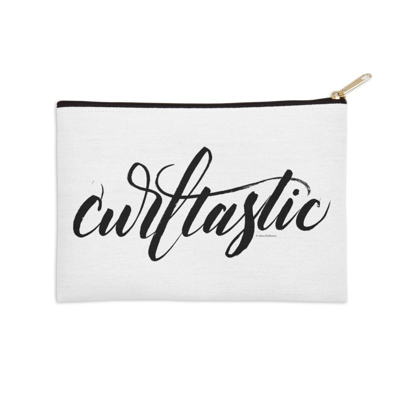 Curltastic Accessories Zip Pouch by wellchosenletters' Artist Shop