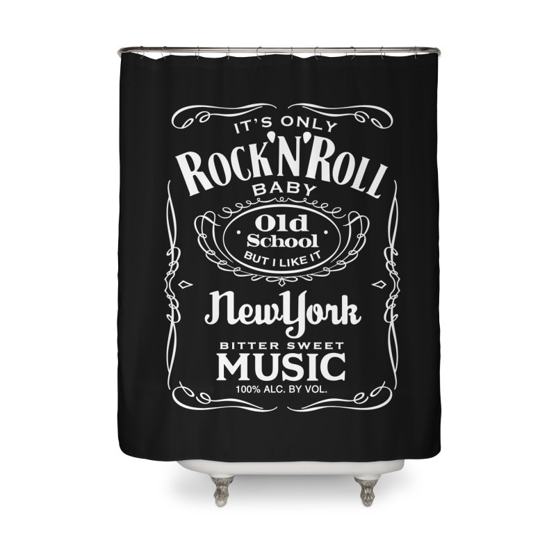 It's Only Rock 'n Roll Home Shower Curtain by wendigoproductionsnyc's Shop