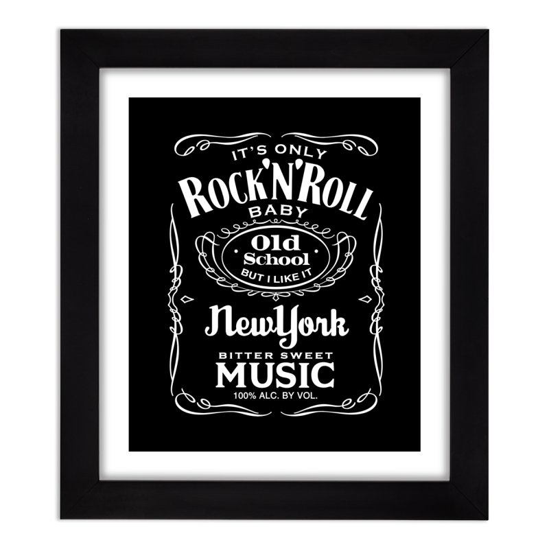 It's Only Rock 'n Roll Home Framed Fine Art Print by wendigoproductionsnyc's Shop