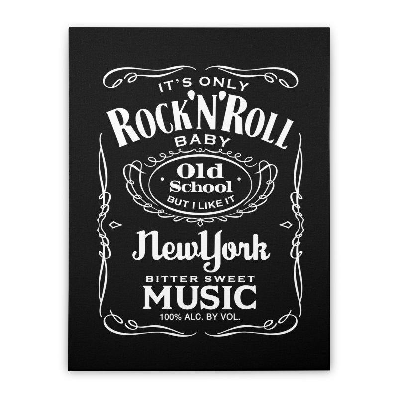 It's Only Rock 'n Roll Home Stretched Canvas by wendigoproductionsnyc's Shop