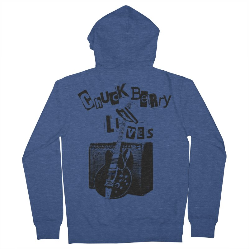 CHUCK BERRY LIVES Men's Zip-Up Hoody by wendigoproductionsnyc's Shop