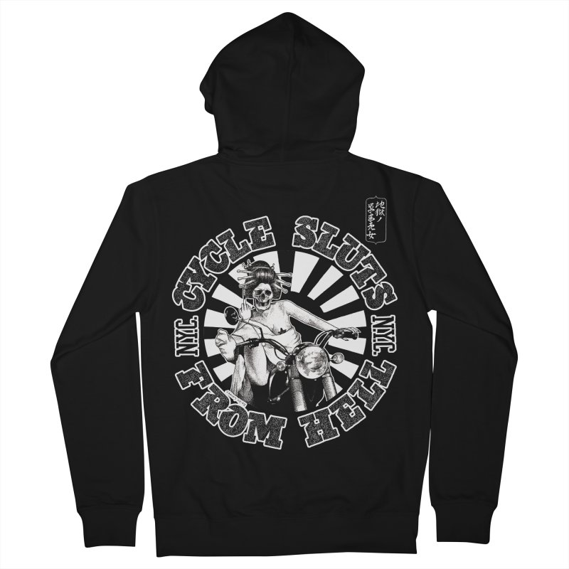 CYCLE SLUTS FROM HELL - Zombie Geisha Edition Men's Zip-Up Hoody by wendigoproductionsnyc's Shop