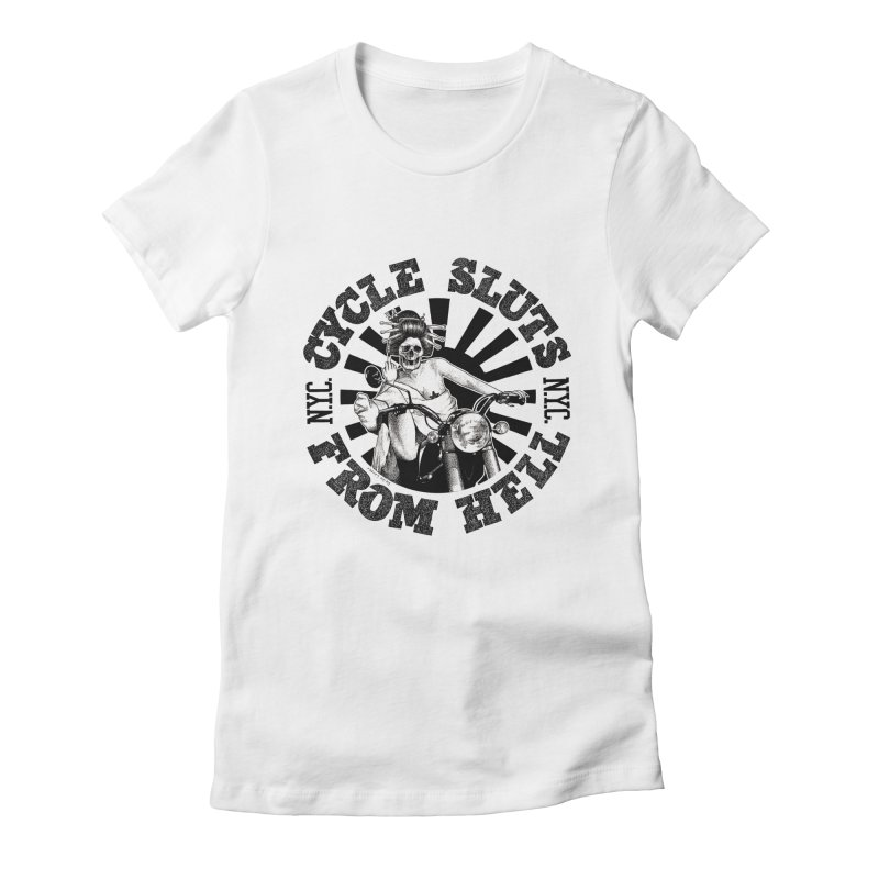 CYCLE SLUTS FROM HELL - Zombie Geisha Edition Women's T-Shirt by wendigoproductionsnyc's Shop